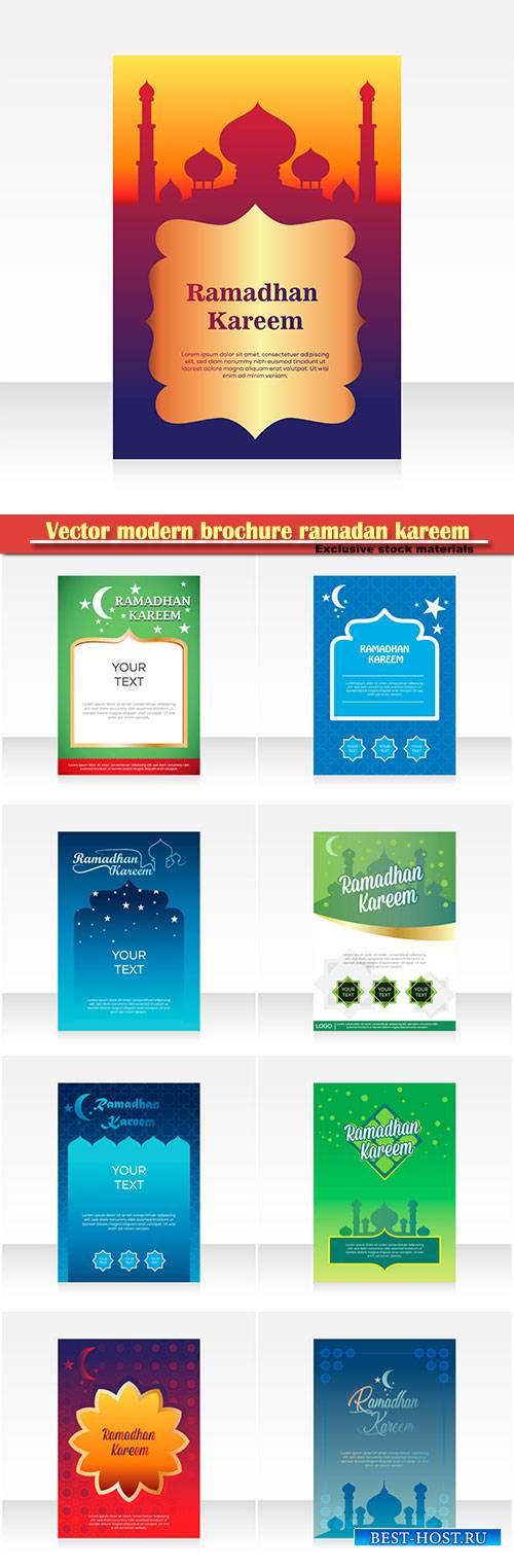 Vector modern brochure ramadan kareem