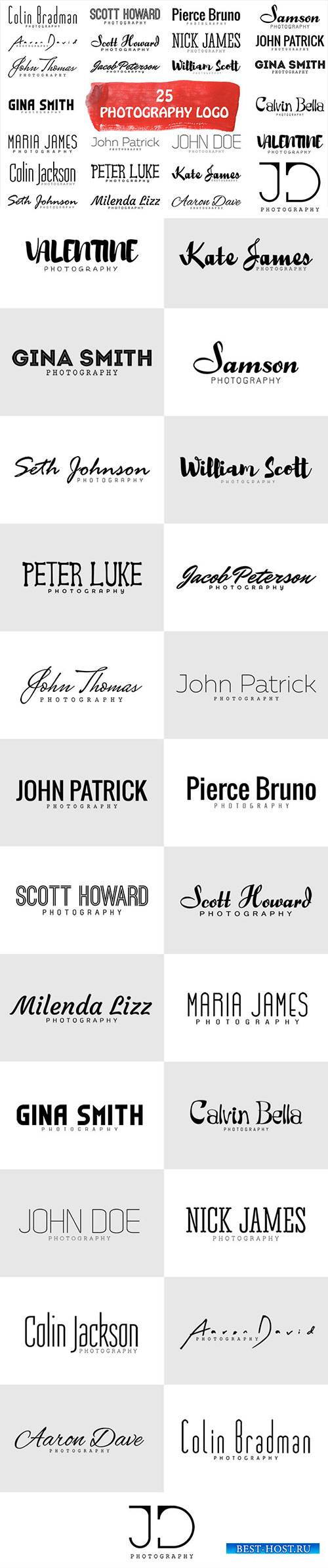 25 Minimal Logo For Photographers & Minimalist Lovers