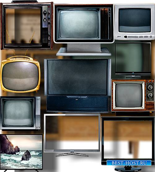Коллекция Png клипартов - Телевизоры разных моделей