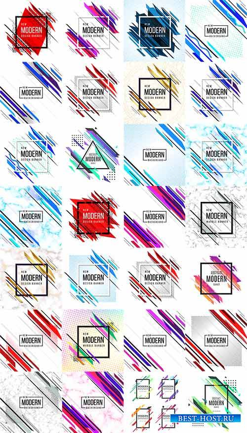 Modern Abstract Background - Vector