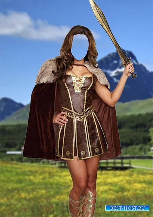 Костюм для фотомонтажа - Принцесса викингов