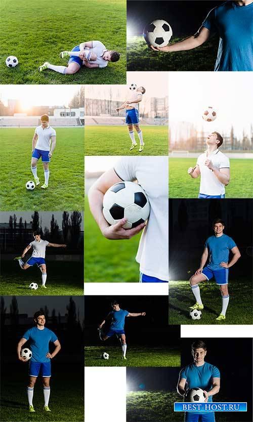 Тренировка футболиста - Растровый клипарт / Soccer player training - Raster ...