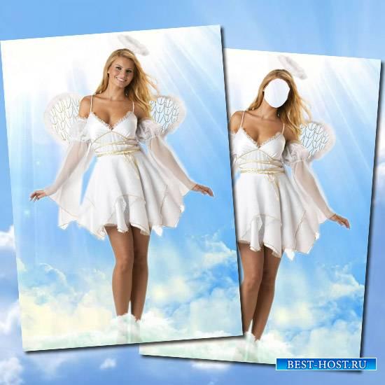 Костюм для фотомонтажа - Ангел в облоках