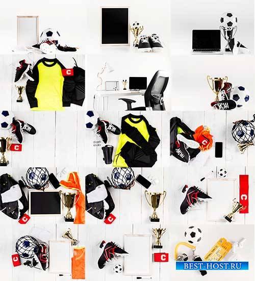 Футбольные композиции - Растровый клипарт / Football compositions - Raster  ...