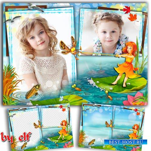 Детская фоторамка для двух фото с героями м/ф Дюймовочка