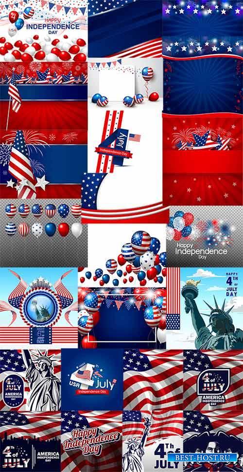 4 июля. День США - Векторный клипарт / 4th of July. American Day - Vector G ...