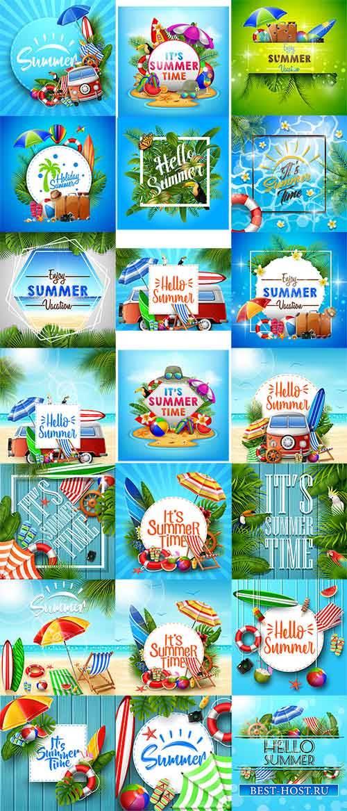 Летние фоны в векторе / Summer backgrounds in vector