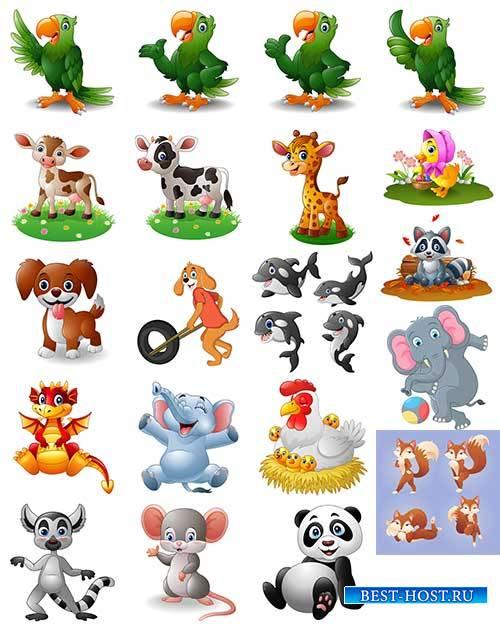 Симпатичные зверюшки в векторе - 2 / Cute little animals in vector - 2