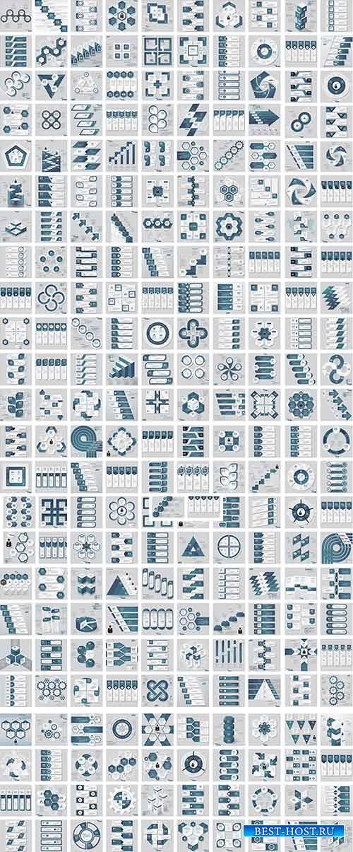 Большой набор шаблонов инфографики в векторе / Big infographic templates se ...