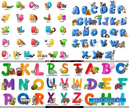 Разноцветный алфавит с животными / Multicolored alphabet with animals