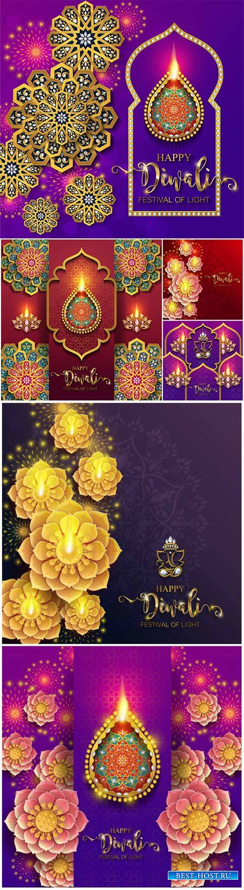 Diwali luxury vector background