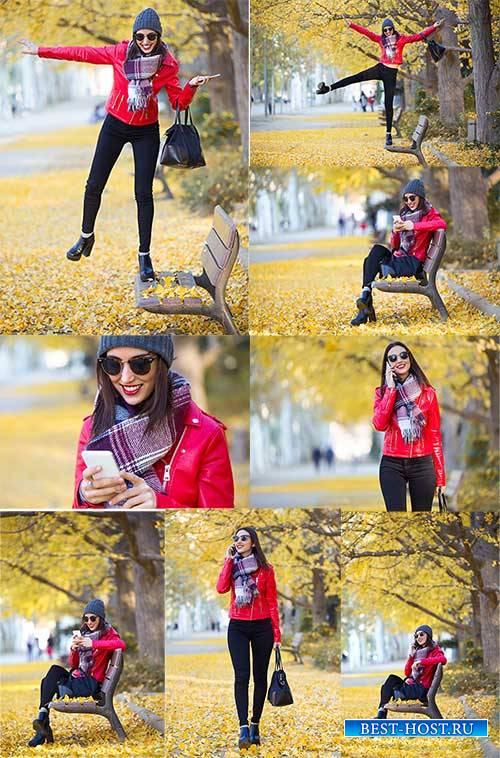 Девушка в осеннем парке - Клипарт / Girl in the autumn park - Clipart