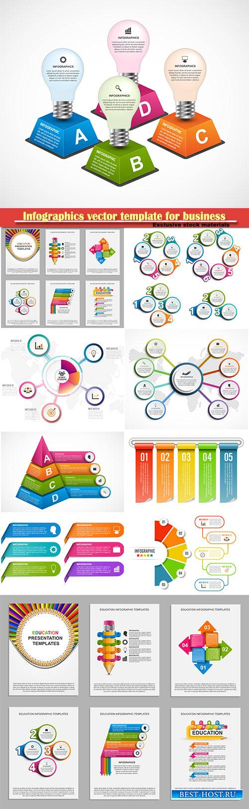 Infographics vector template for business presentations or information banner # 97
