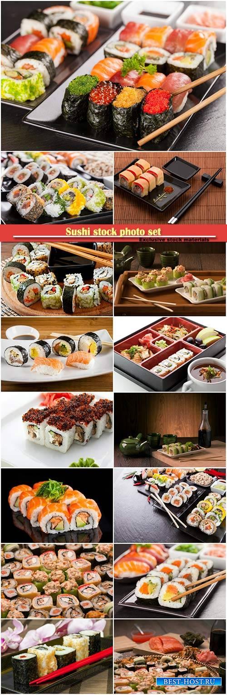 Sushi stock photo set