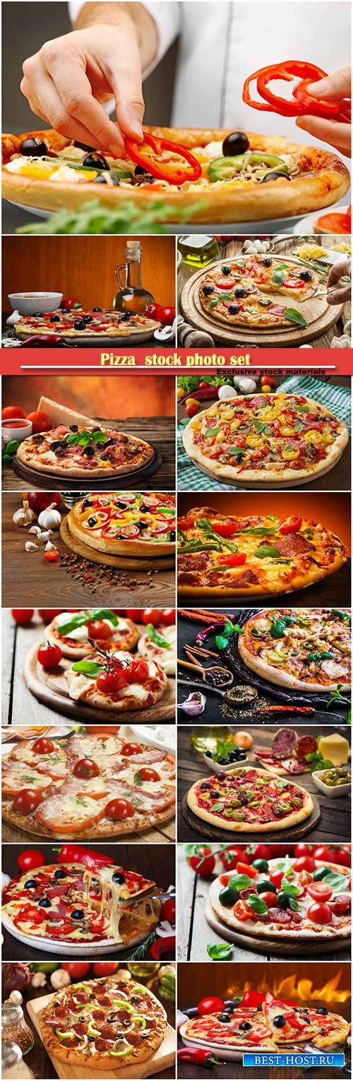 Pizza  stock photo set