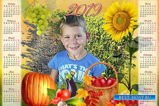 Настенный календарь на 2019 год - Осенний урожай