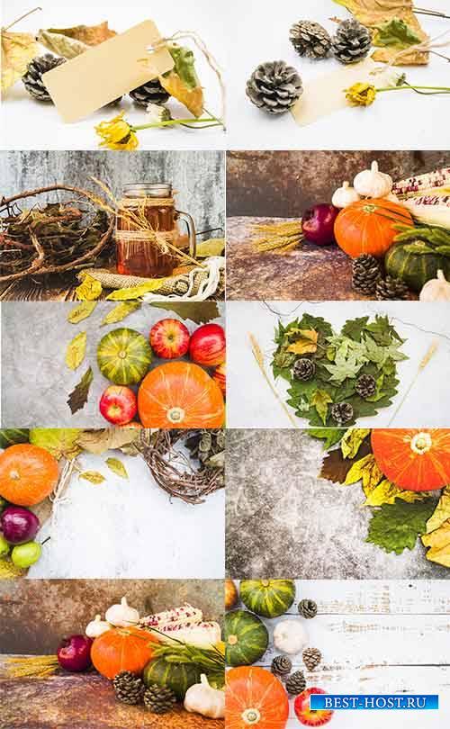 Осенний натюрморт - Растровый клипарт / Autumn still life - Raster clipart
