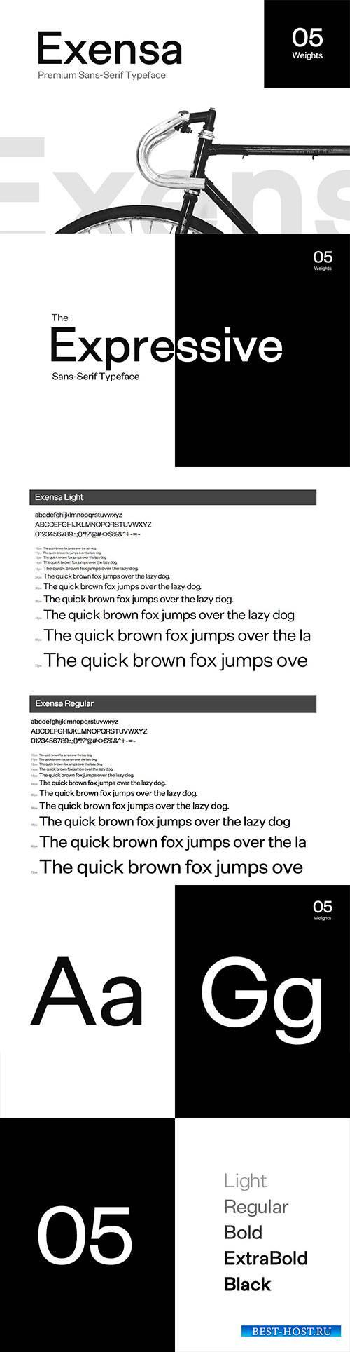 CM - Exensa Grotesk Typeface + Web Fonts 2436076