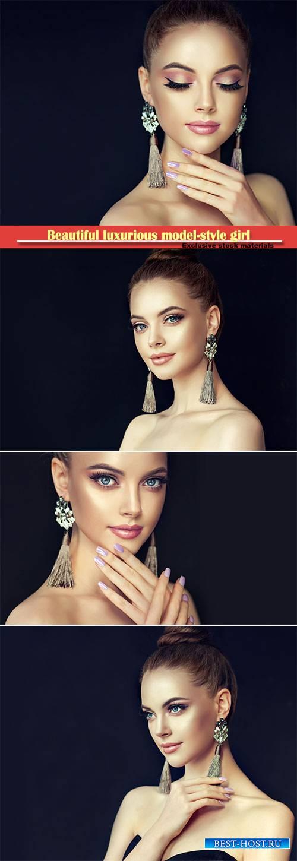 Beautiful luxurious model-style girl