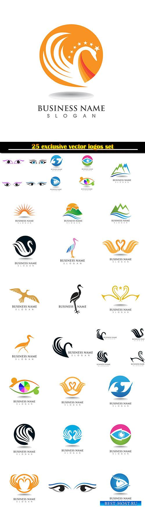 Logo and symbols vector design set