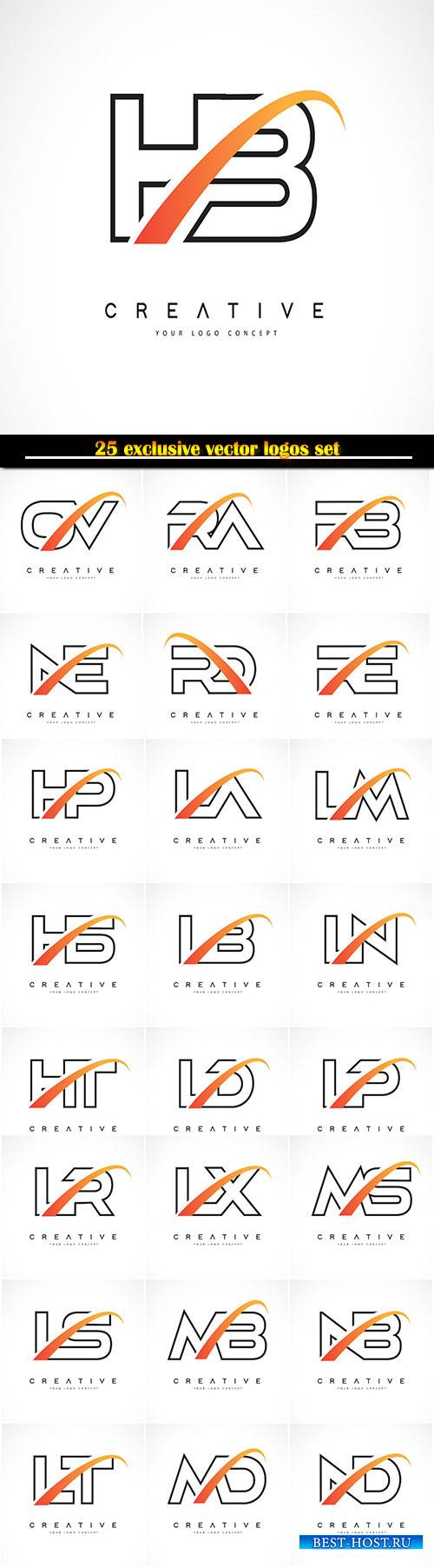 Logo business vector illustration template # 129