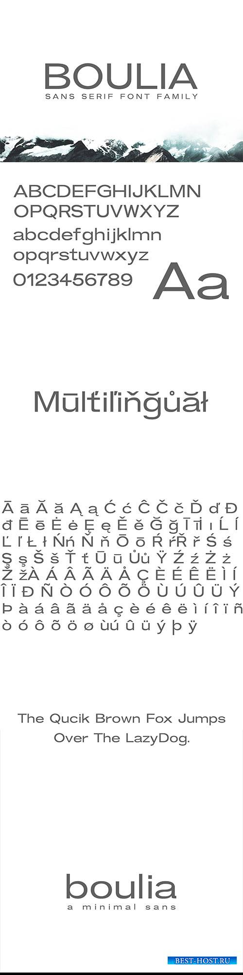 CM - Boulia Sans Serif Font Family 2912151