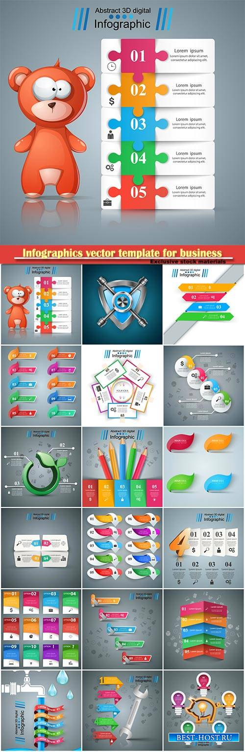 Infographics vector template for business presentations or information banner # 103