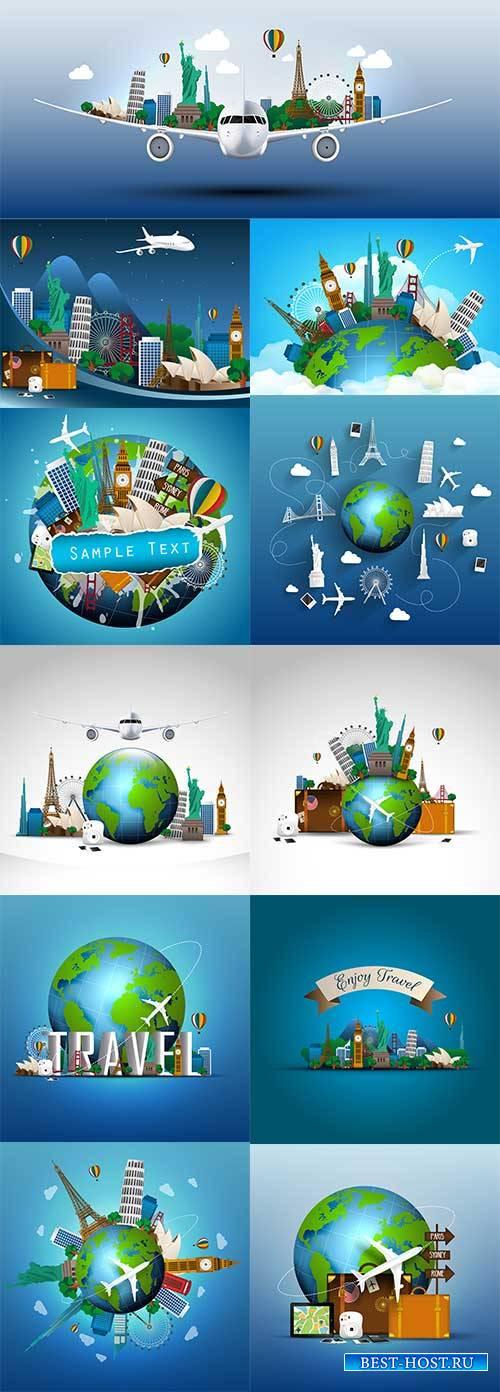 Путешествия - Векторный клипарт / Travel - Vector Graphics