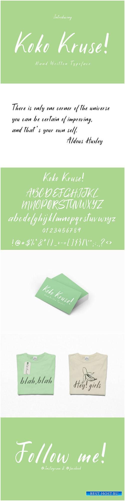 CreativeMarket Koko Kruse | Hand Written Font 1656942