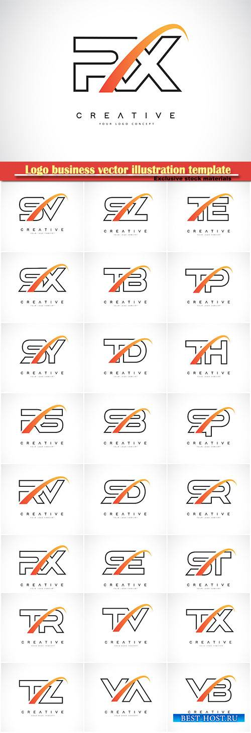 Logo business vector illustration template # 149