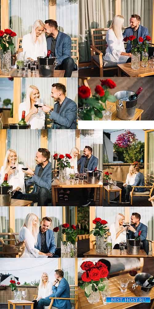 Романтическое свидание - Растровый клипарт / Romantic date - Raster clipart