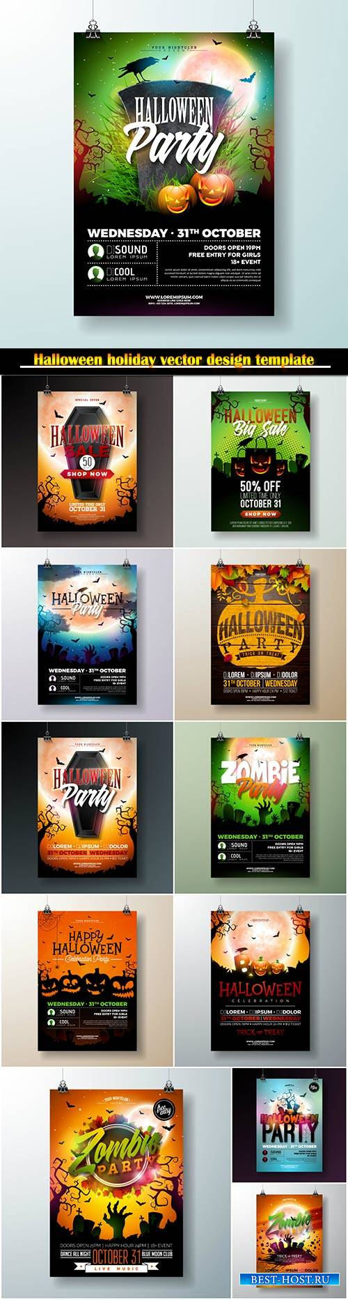 Halloween holiday vector design template