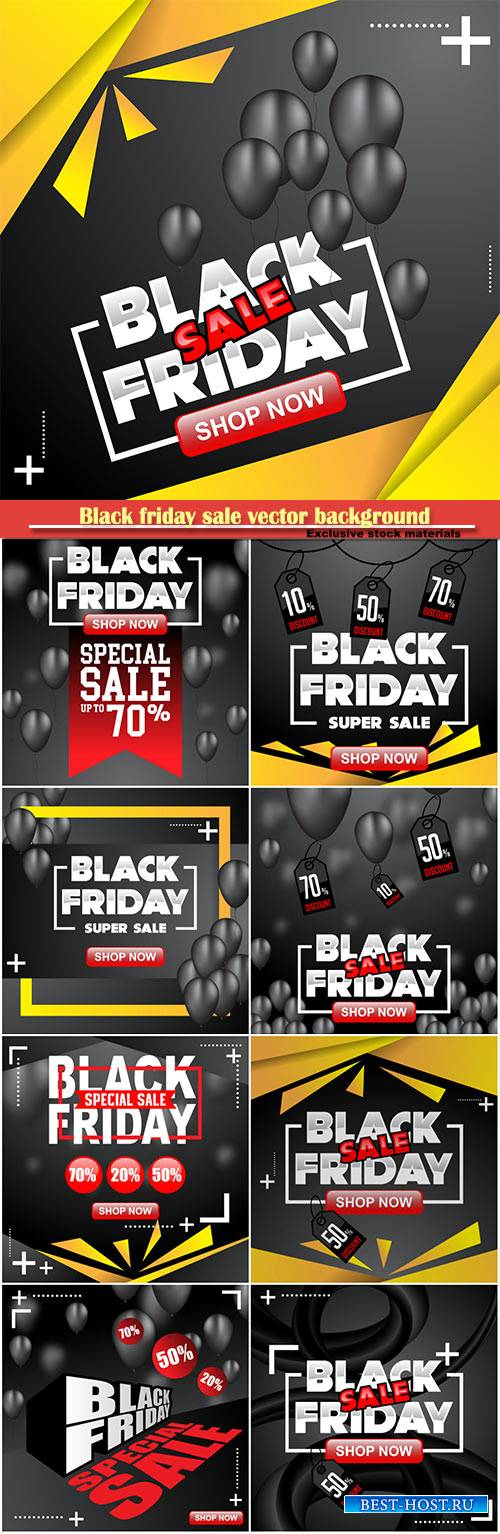 Black friday sale vector background