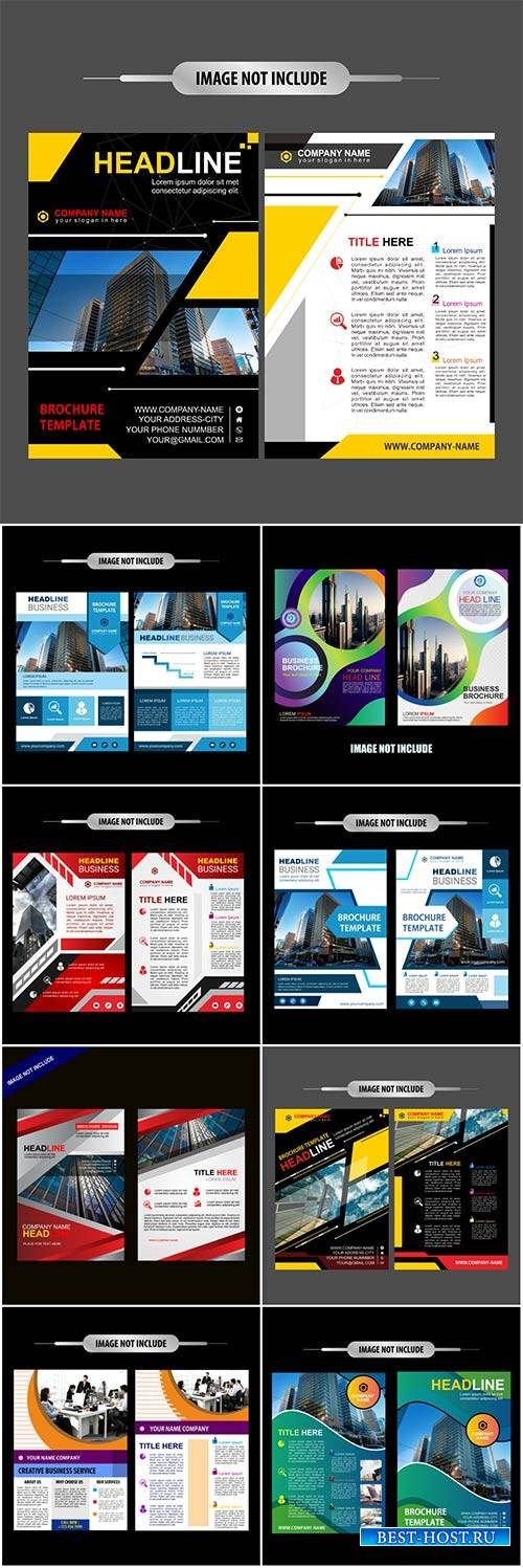 Brochure template vector layout design, corporate business annual report, magazine, flyer mockup # 224