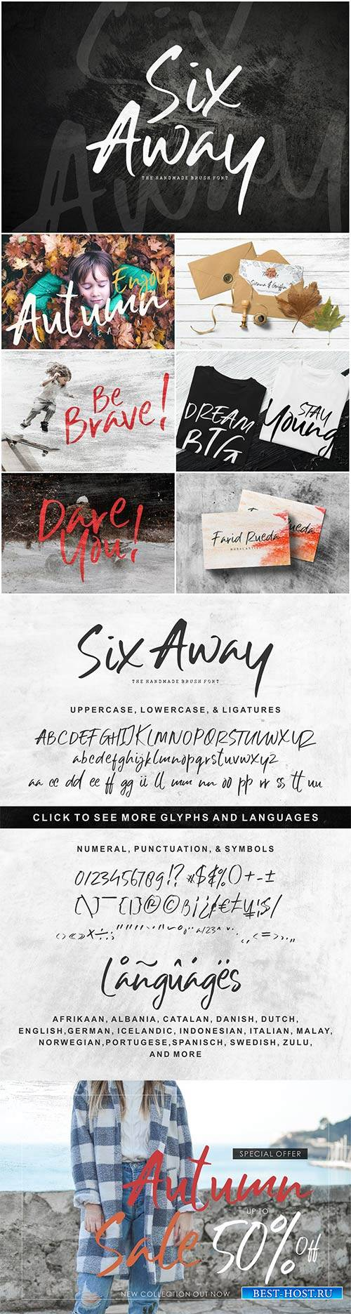 CM - Six Away-The Handmade Brush Font 2994903
