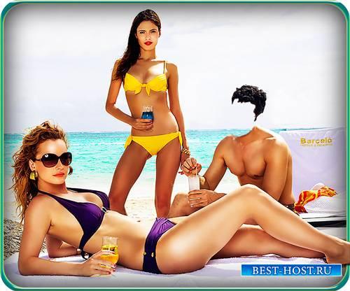 Фотошаблон для фотошопа - Вобществе моделей