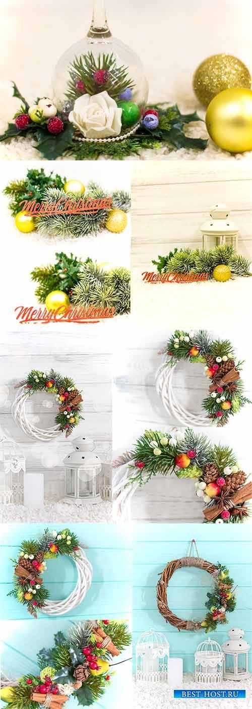 Рождественские композиции - Растровый клипарт / Christmas compositions - Ra ...