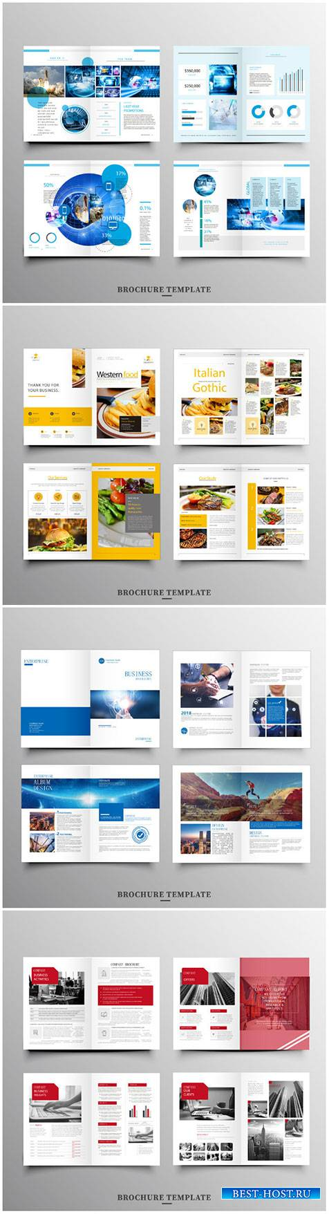 Brochure template vector layout design, corporate business annual report, magazine, flyer mockup # 243
