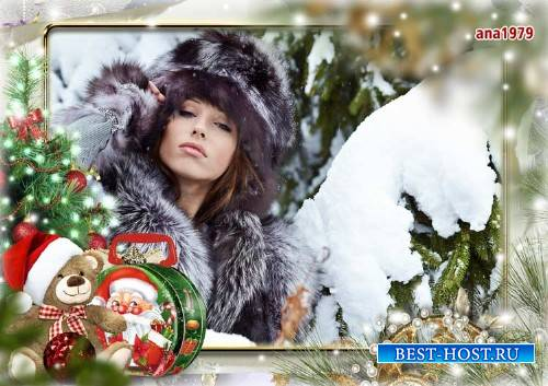 Рамка для фотошопа - Тихо падает на землю снег