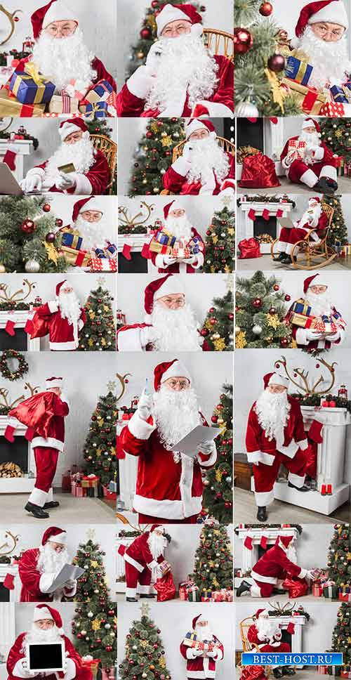 Санта Клаус принёс подарки - Клипарт / Santa Claus brought gifts - Clipart