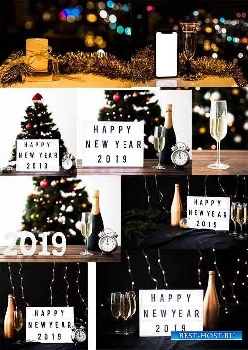 Новогодние фоны - 2 - Растровый клипарт / Christmas backgrounds - 2 - Raste ...