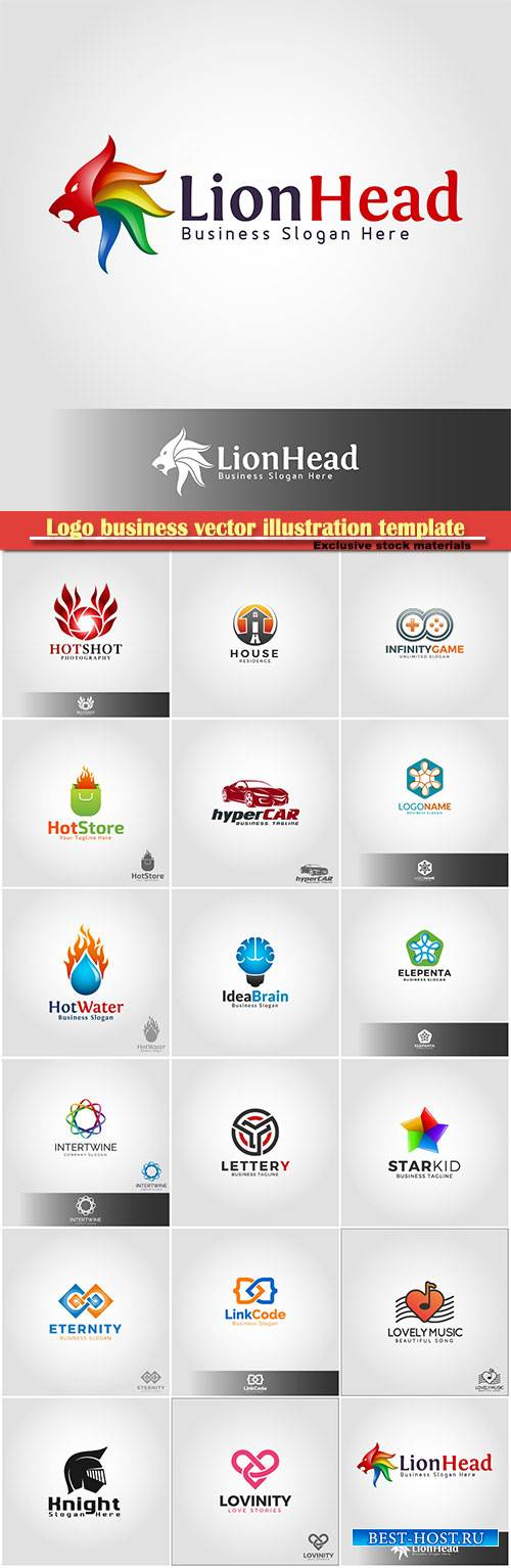 Logo business vector illustration template # 160