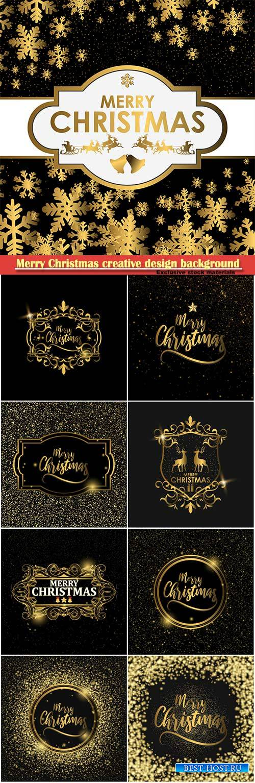 Merry Christmas creative design background vector illustration