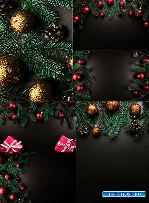 Новогодние фоны - 4 - Растровый клипарт / Christmas backgrounds - 4 - Raste ...