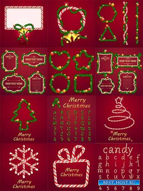 Новогодние фоны - 10 - Векторный клипарт / Christmas backgrounds -10 - Vect ...