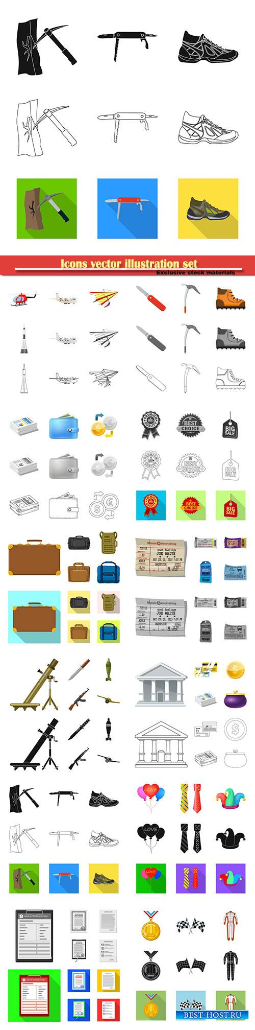 Icons vector illustration set # 2