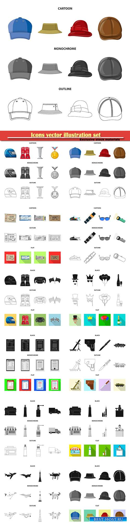 Icons vector illustration set # 5