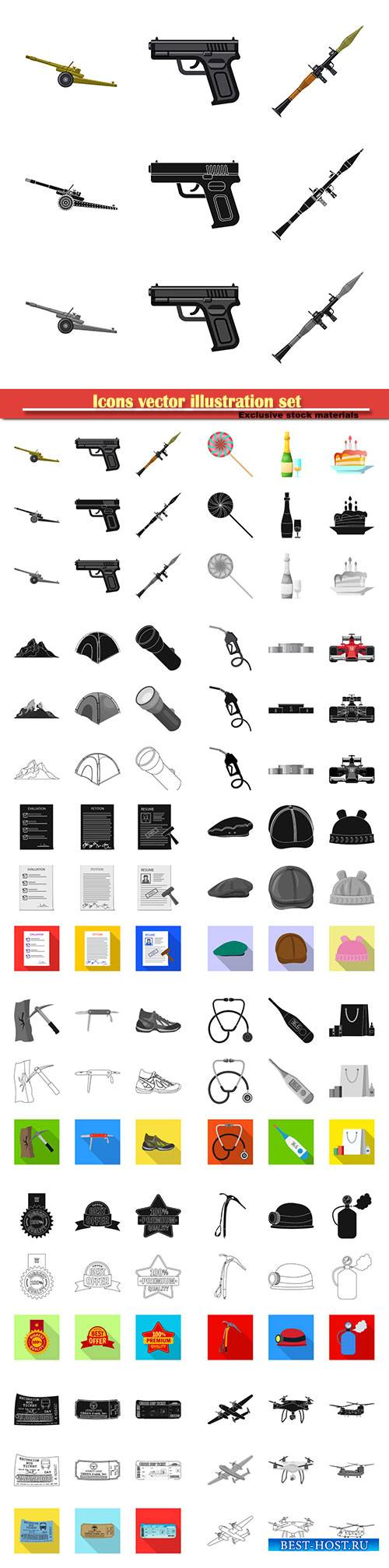 Icons vector illustration set # 3