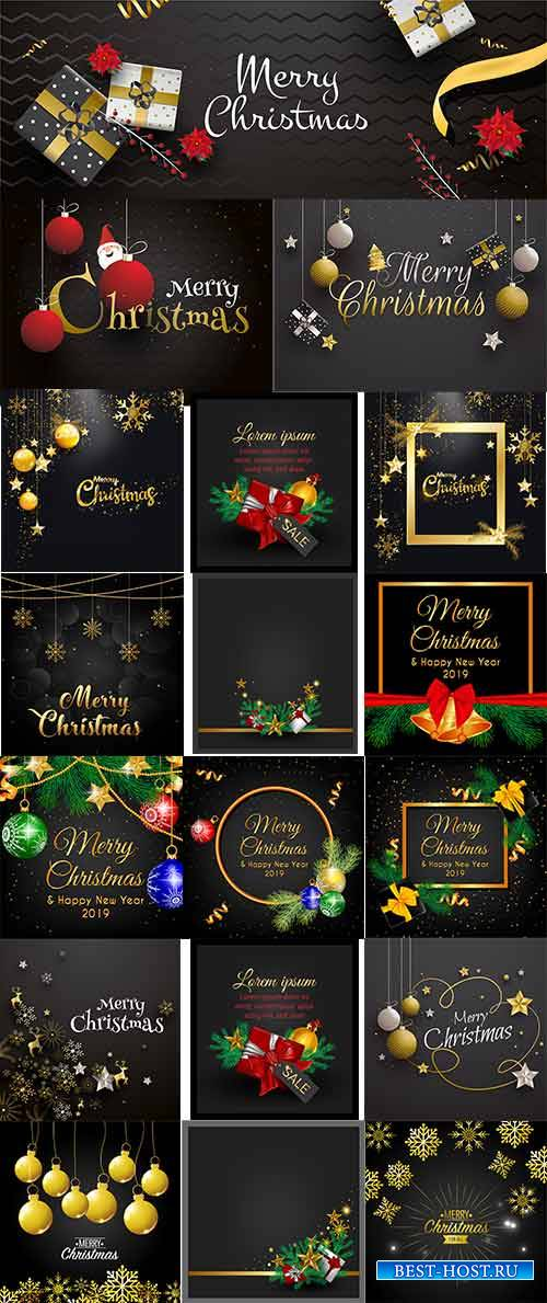 Новогодние фоны - 13 - Векторный клипарт / Christmas backgrounds -13 - Vect ...