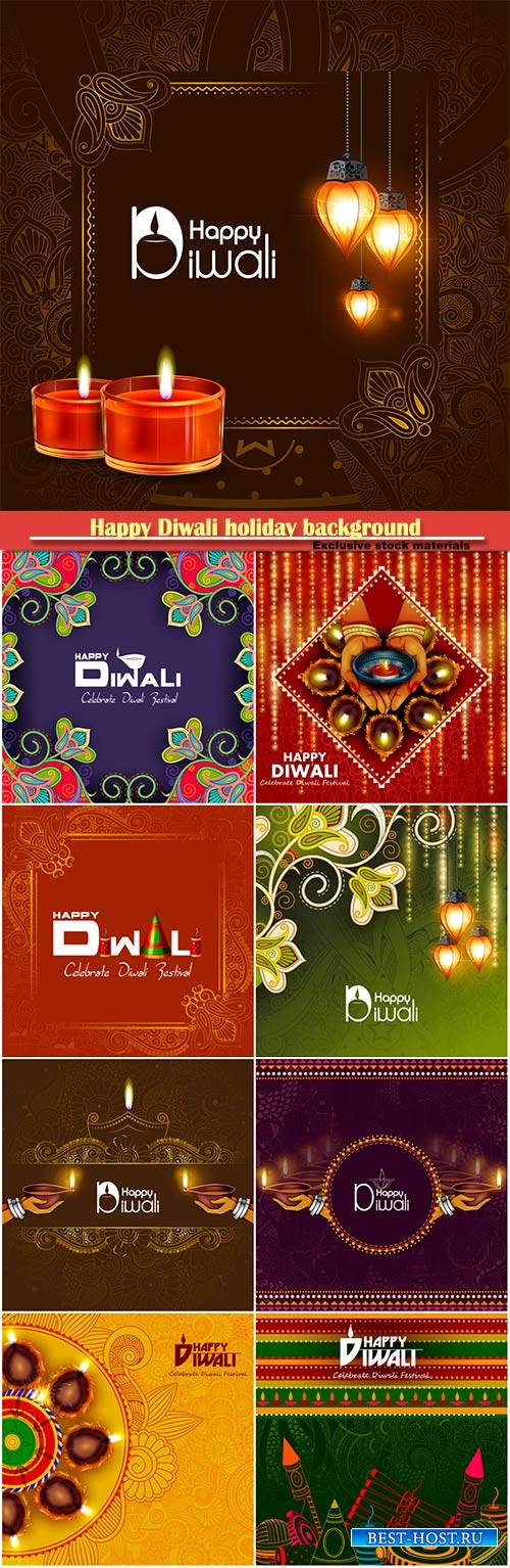 Vector illustration for Happy Diwali holiday background